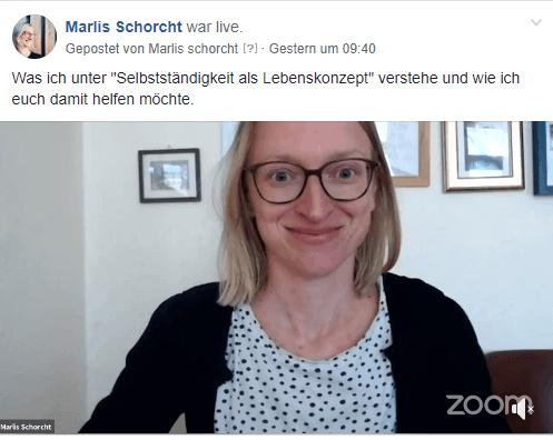Selbstständigkeit als Lebenskonzept facebook live