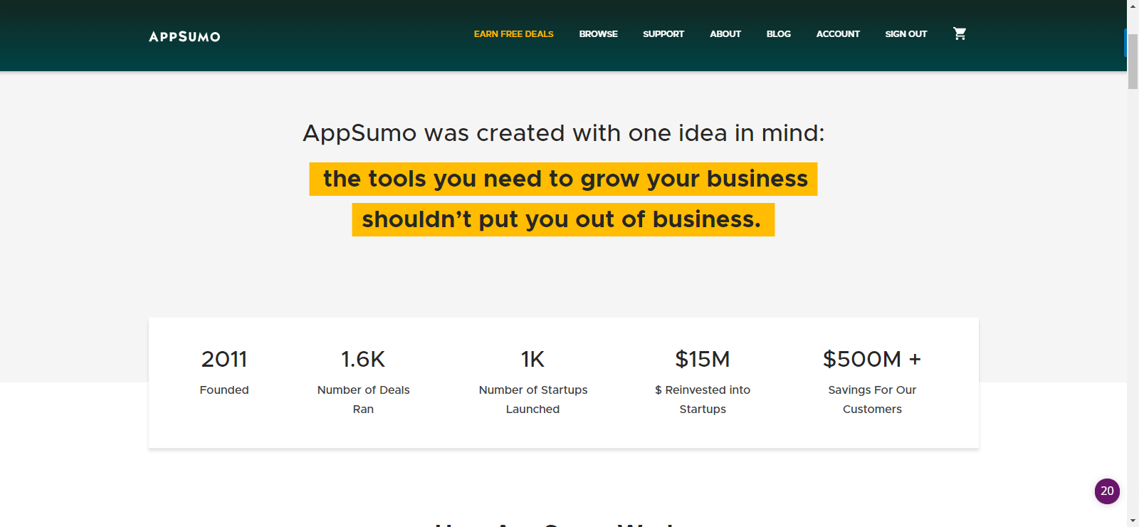 Software Deals bei Appsumo