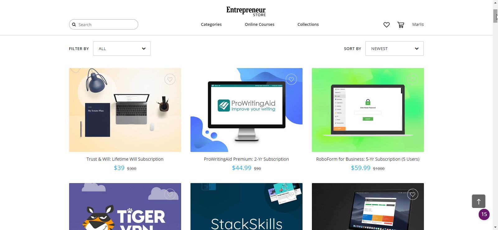 Software und Online-Kurse für Entrepreneure