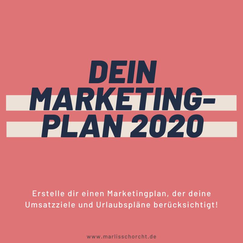 Marketingplan erstellen für Selbstständige