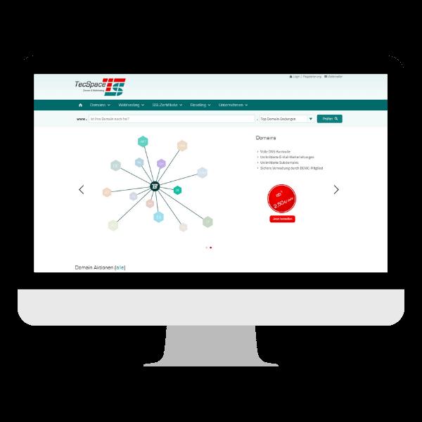 tecspace webhosting domains